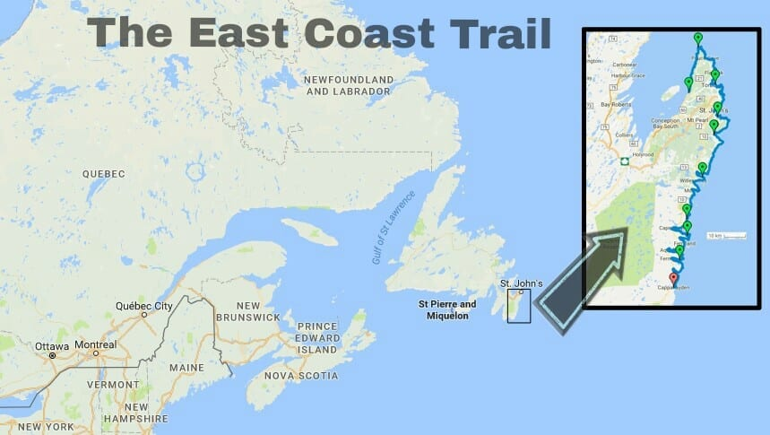 The East Coast Trail is a coastal walking and hiking experience that takes you to the outermost reaches of North America, along the scenic shores of the Avalon Peninsula in Newfoundland and Labrador.