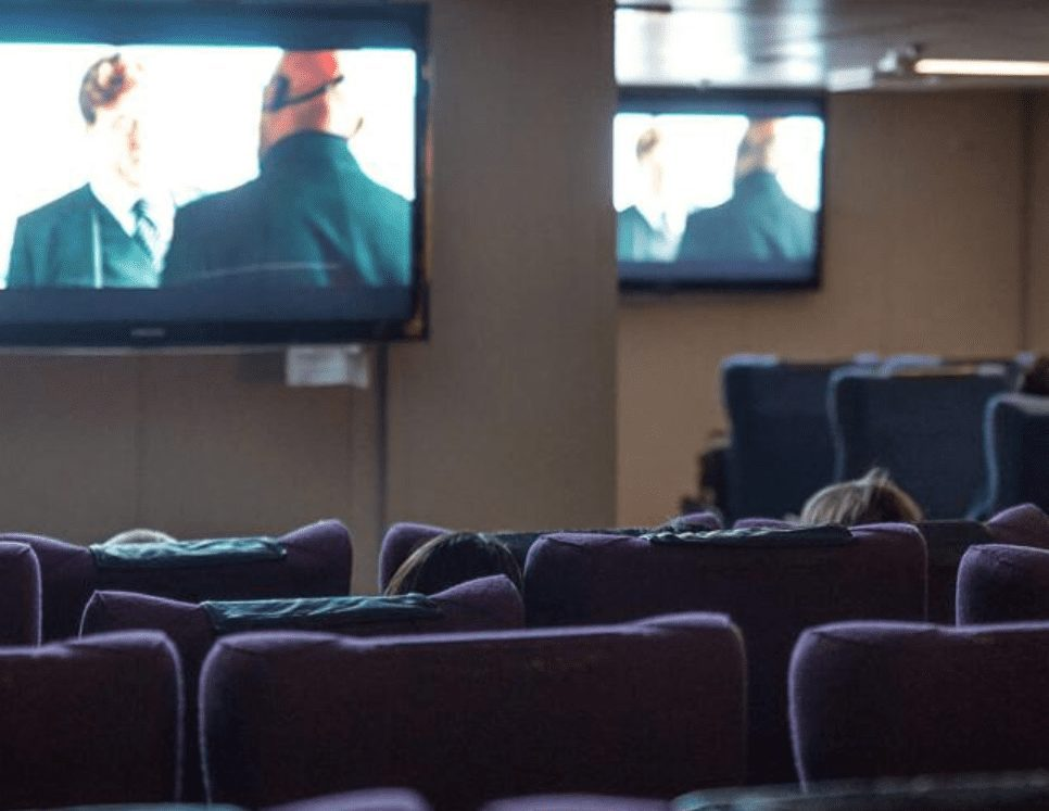 Enjoy the Movie Theatre on the ferry from Newfoundland to Nova Scotia