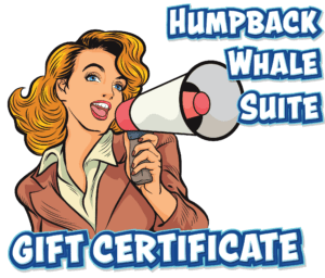 Telling all my friends about the great deal at the Whale House for Gift Certificates